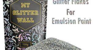 150 g silbener glitzer fuer dispersionsfarbe glitzernde wanddekoration perfekt fuer innen und aussen 310x165 - 150g silbener Glitzer für Dispersionsfarbe, glitzernde Wanddekoration, perfekt für Innen und Außen