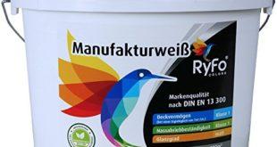 51MvAr+QYcL 310x165 - RyFo Colors Manufakturweiß 12,5l (Größe wählbar) - unsere beste Profi Wandfarbe, sehr ergiebige zertifizierte Innen-Dispersion, Innenfarbe weiß, hoher Weißgrad, Deckkraft Klasse 1, Nassabrieb Klasse 1