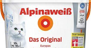 ALPINA Innenfarbe Das Original Alpinaweiss 10L 10 l weiss 310x165 - ALPINA Innenfarbe Das Original, Alpinaweiß 10L 10 l, weiß