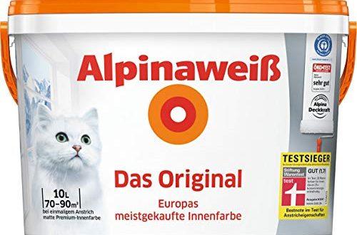 ALPINA Innenfarbe Das Original Alpinaweiss 10L 10 l weiss 500x330 - ALPINA Innenfarbe Das Original, Alpinaweiß 10L 10 l, weiß